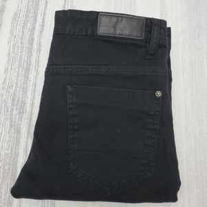 WT02 Skinny Ribbed Moto Jeans